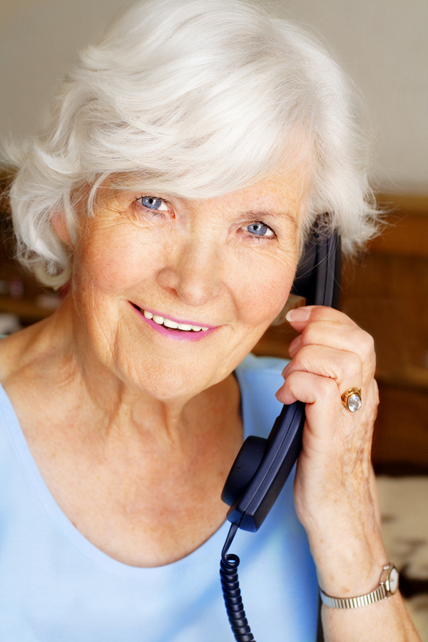 bigstock-Senior-lady-having-a-telephone-24221669