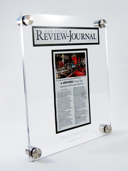lucinda acrylic plaque
